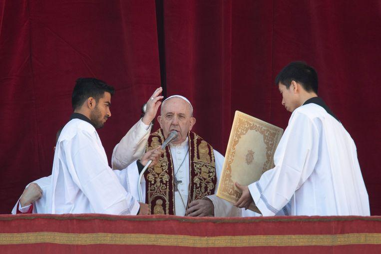 Paus Franciscus.  Beeld AP