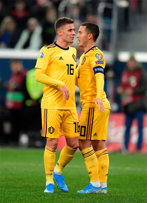 Thorgan en Eden Hazard.