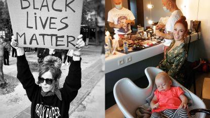 SHOWBITS. Josje neemt deel aan Black Lives Matter-betoging en Natalia trekt met dochtertje naar opnames