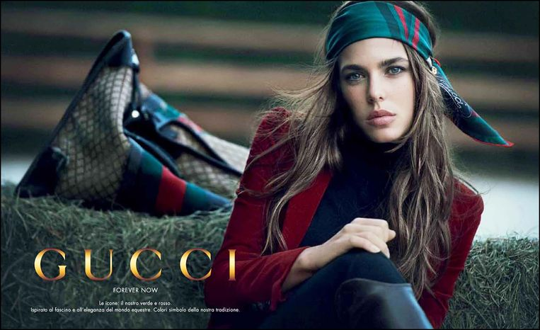 Charlotte Casiraghi Grimaldi als model voor Gucci.