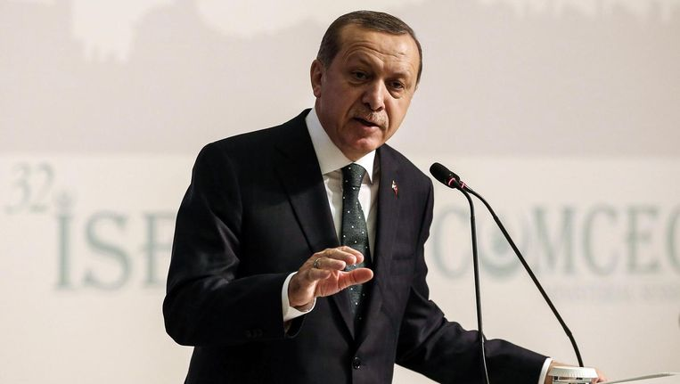 De Turkse president Recep Tayyip Erdogan. Beeld anp