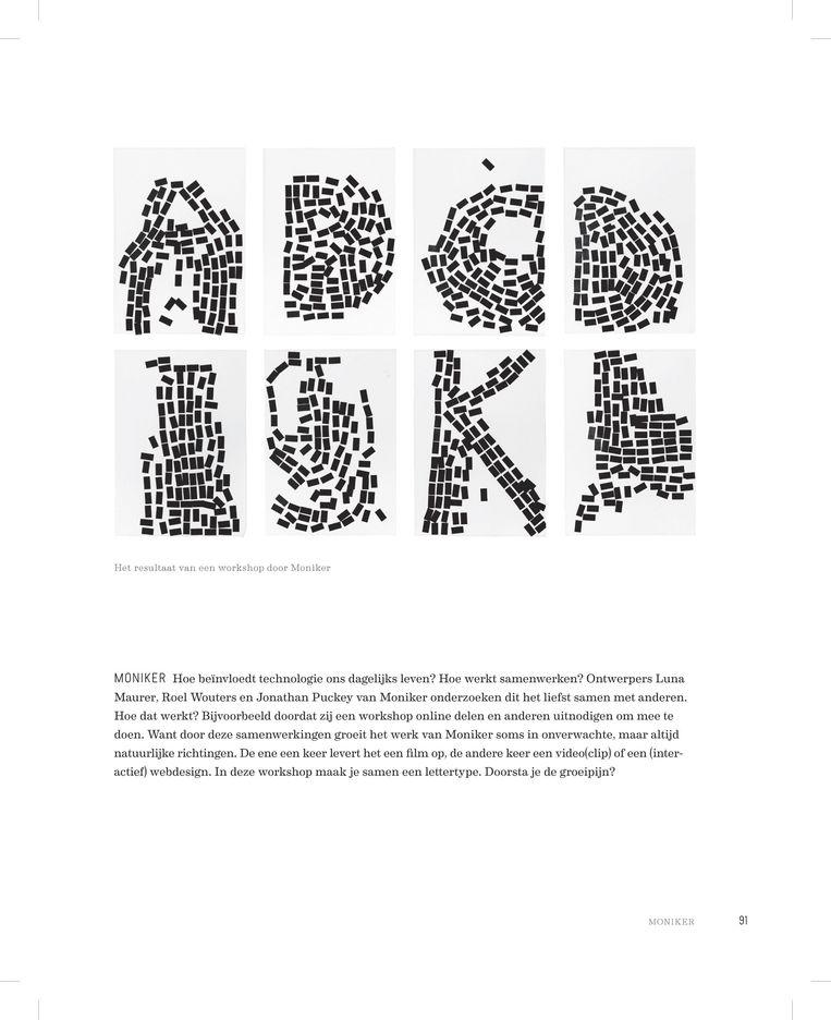 Instructiepagina Workshop Moniker: Hoe ontwerp je samen een letter? Beeld .