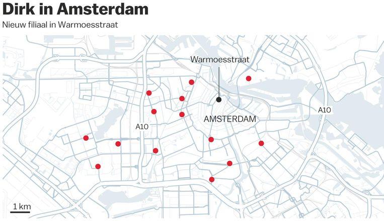 Dirk in Amsterdam Beeld Het Parool