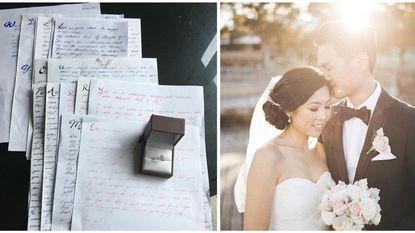 """""""Dit zag ik niet aankomen"""": man doet er drie jaar over om vriendin via liefdesbrieven ten huwelijk te vragen"""