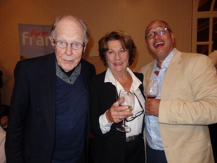 Fotograaf Eddy Posthuma de Boer, zijn partner Henriette Posthuma de Boer en Bo van der Meulen (Italië Magazine) Beeld Schuim