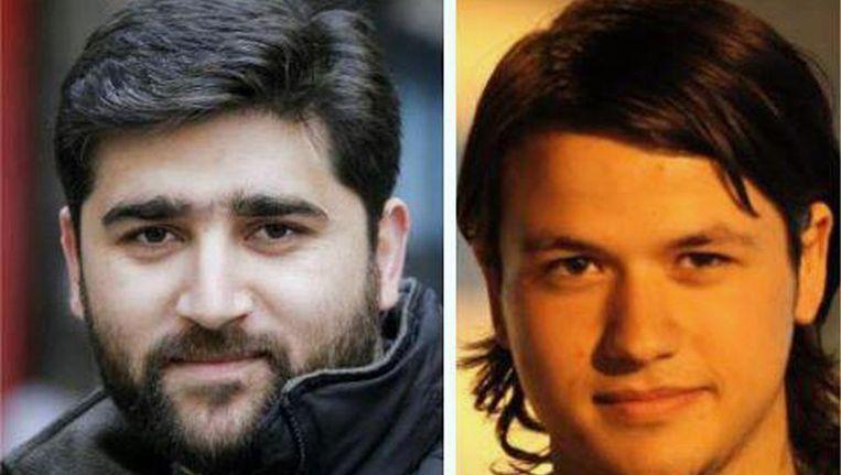 De twee journalisten, Adem Ozkose (l) en Hamit Coskun. Beeld ap