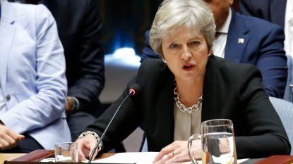 """May belooft bedrijven laagste belastingen in G20 na brexit en bespreekt """"verregaand handelsakkoord"""" met Trump"""