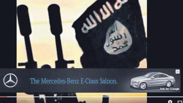 Reclame voor Mercedes Benz in een IS-video Beeld Youtube