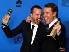 Cranston en Paul hinten op Breaking Bad-film