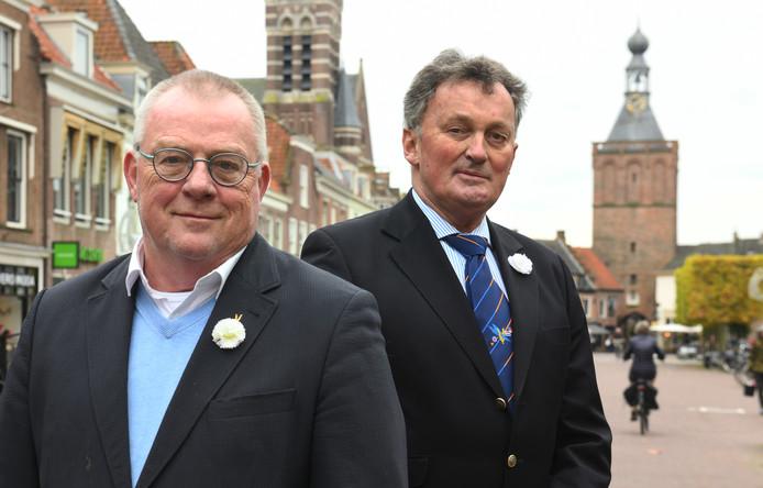Oudstijders Jansen (rechts) en van Gelderen.