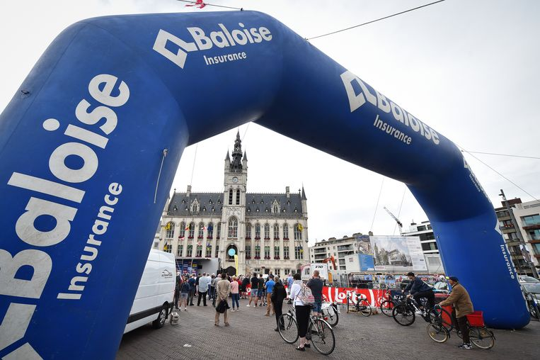 Illustration picture taken during the team presentation ahead of the Baloise Belgium Tour cycling race, Tuesday 11 June 2019, in Sint-Niklaas. BELGA PHOTO DAVID STOCKMAN