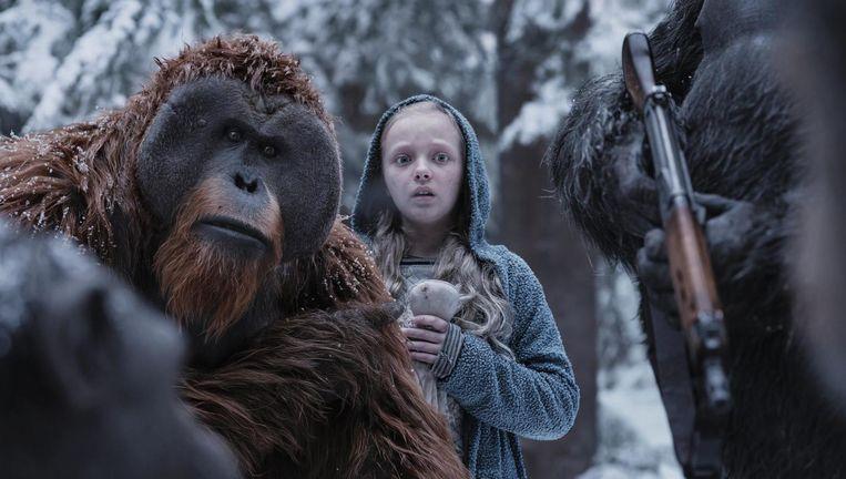 In de nieuwe film wordt de door Andy Serkis vertolkte Caesar een soort Mozes. Beeld -