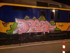 Graffitivandalen gepakt na bekladden trein in Zutphen