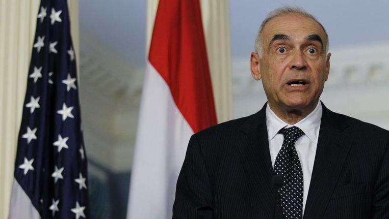 De Egyptische minister van Buitenlandse Zaken Mohammed Kamel Amr. Beeld reuters