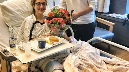 Te veel gedanst: Hanne Decoutere in ziekenhuis
