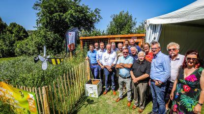 """Educatieve bijenhal geopend met 60.000 bijen: """"Hopelijk kunnen we er deze zomer honing uit halen"""""""