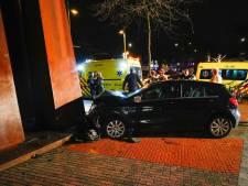 Vier gewonden na botsing tegen kunstwerk op Keizersgracht Eindhoven: lachgas gevonden in auto