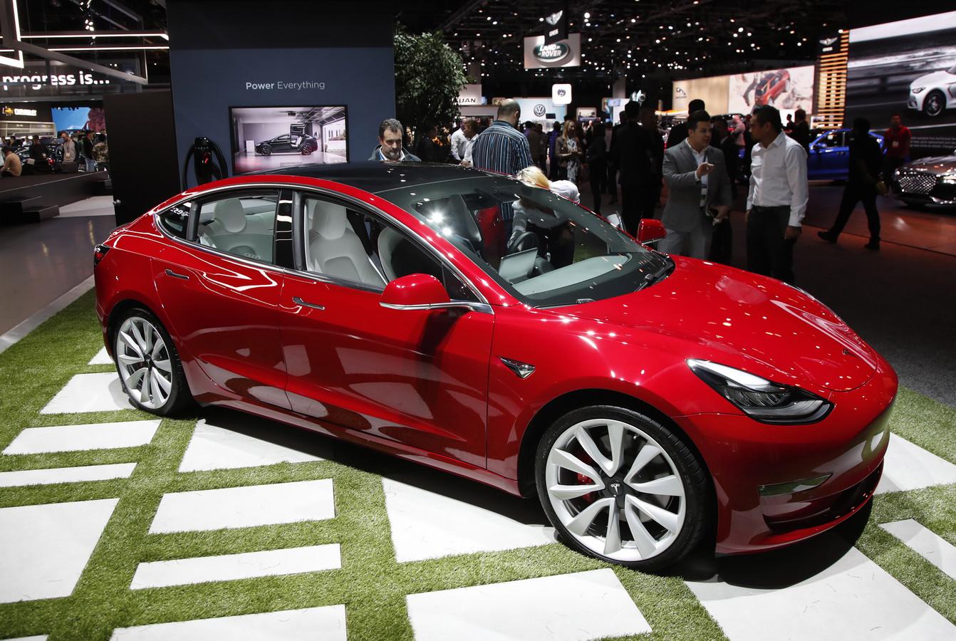Een Tesla Model 3.