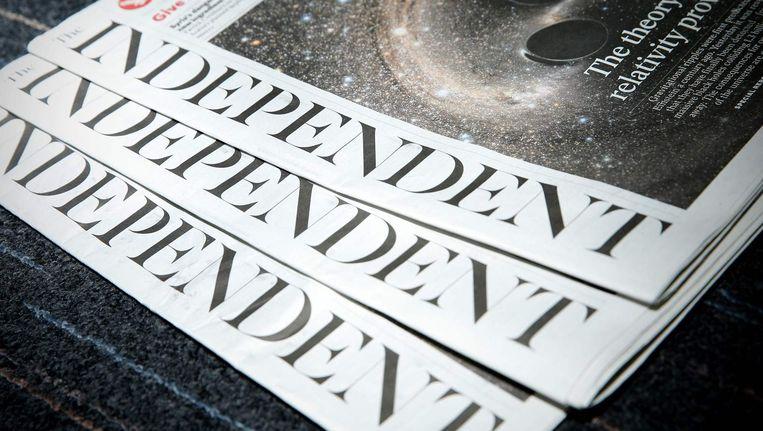 Op 26 maart verschijnt de laatste papieren editie van The Independent. Beeld afp