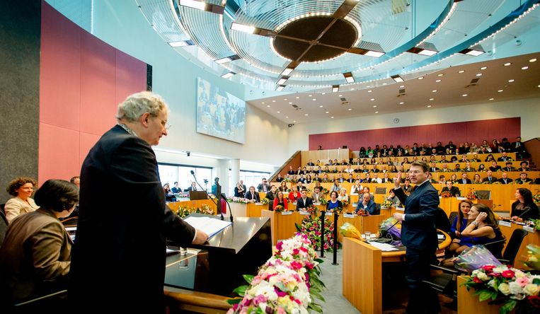 In de Amsterdamse gemeenteraad (foto uit 2014). Beeld ANP