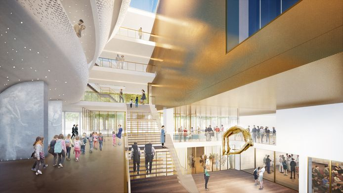 Het ontwerp voor het nieuwe Theater aan de Parade in Den Bosch van architectenbureau NOAHH uit Amsterdam.