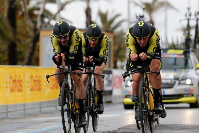 Mitchelton-Scott won eerder deze maand ook de ploegentijdrit in Tirreno-Adriatico.