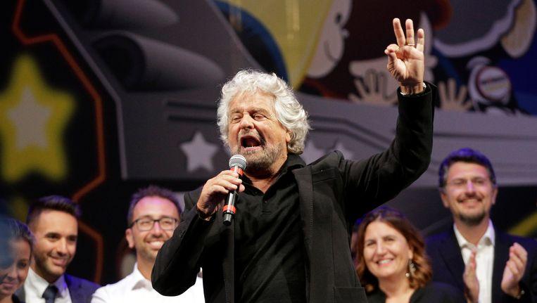 Beppe Grillo van de Vijfsterrenbeweging
