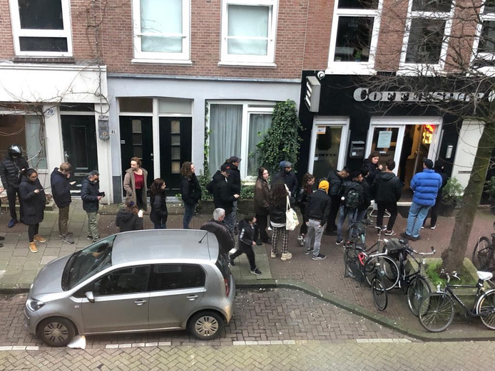Coffeeshop Club Media in de Oude Pijp.
