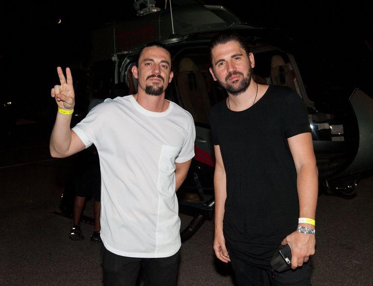Dimitri Vegas, hier met Like Mike, is een goede vriend van Tom.