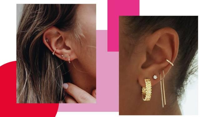 Niet elke piercing past bij elk oor: onze piercer legt uit hoe je de 'curated ear'-trend toepast