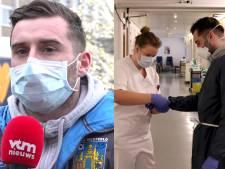 """Surpris dans une lockdown party, Tuur Dierckx a rendu visite à des patients de la Covid-19: """"Un joli geste"""""""