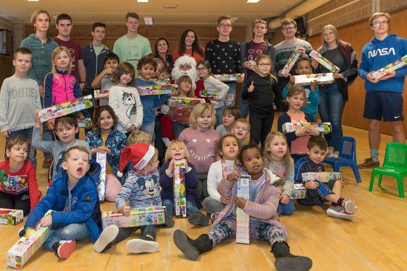 Bezoek van kerstman afsluiter van  topweek bij 'Jeugd, Sport en Spel'