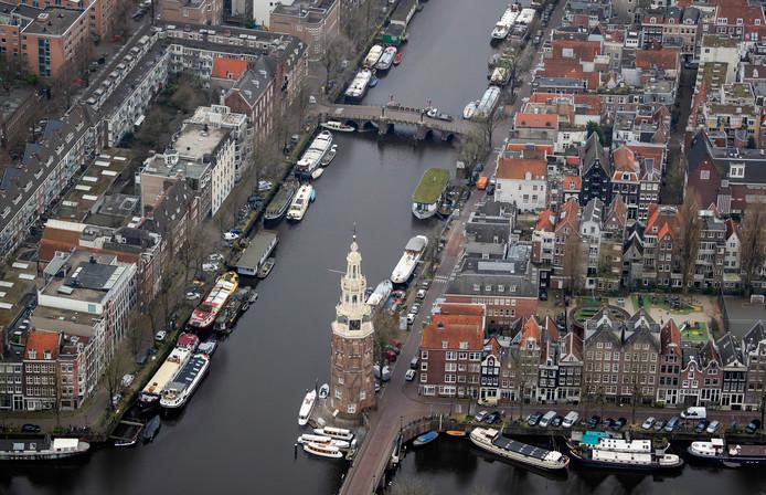 Het centrum van Amsterdam.