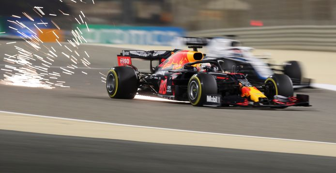 Max Verstappen op het  Bahrain International Circuit.