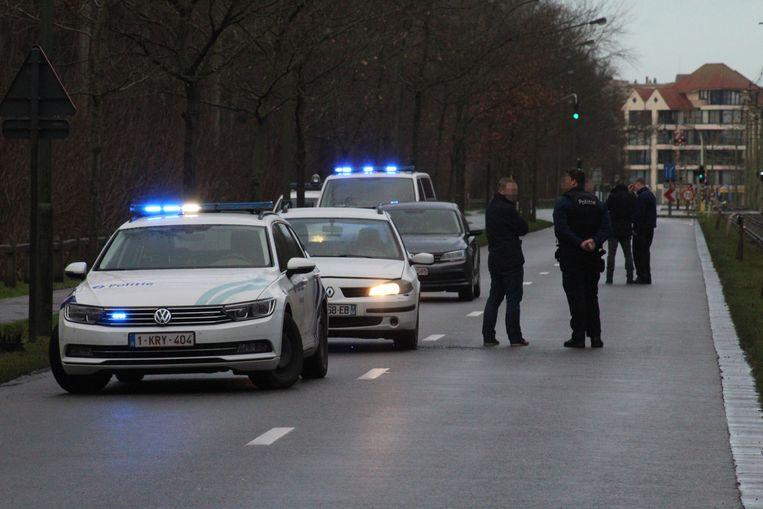 De politie kon de gevluchte Fransman uiteindelijk onderscheppen in de Kerkstraat.