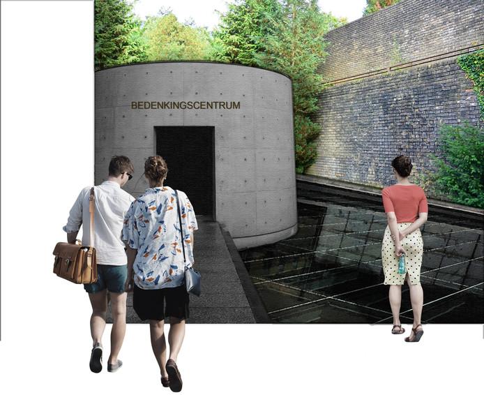 Impressie entree Muur van Mussert, zoals Rick Abelen dat had bedacht.