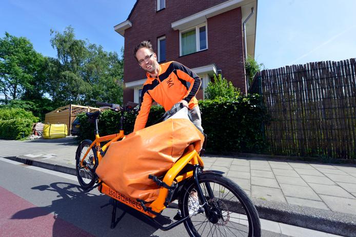 Klaas Bakker met zijn vrachtfiets.