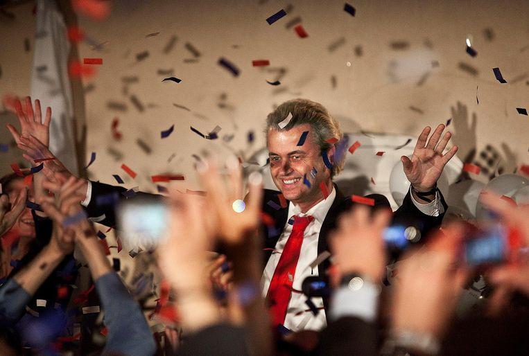 Geert WIlders in 2010: niet 18, maar 24 zetels. Beeld null