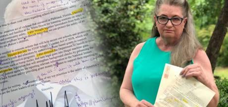 'Ik heb er maar geen cijfer op gezet': taallerares corrigeert brief van Trump
