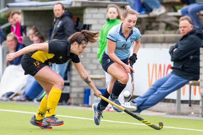 De hockeysters van Nijmegen eerder dit seizoen tegen Terriërs.