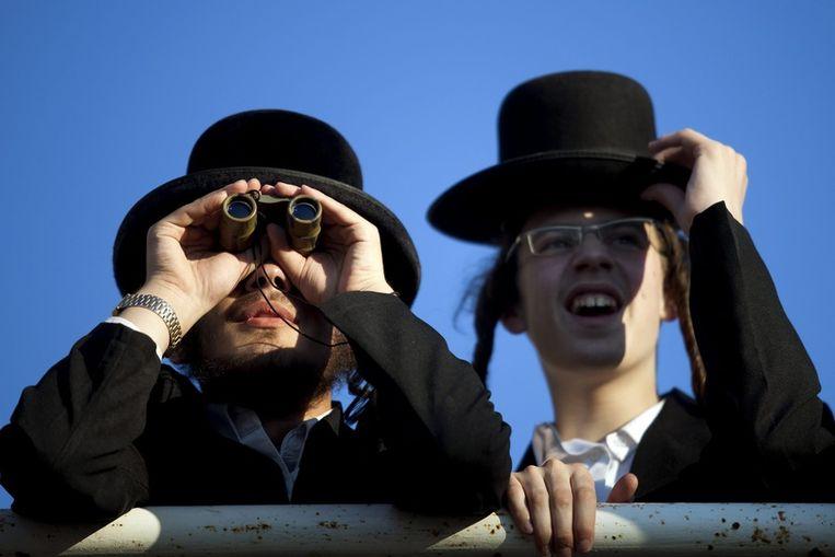 Ultraorthodoxe joden in Jeruzalem. Beeld epa