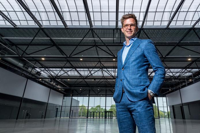 Directeur Jeroen Dona in de Brabanthallen. Hij zou 'vereerd' zijn om het Eurovisiesongfestival te mogen ontvangen.