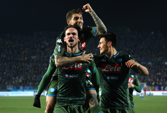 Fabián Ruiz viert zijn goal.
