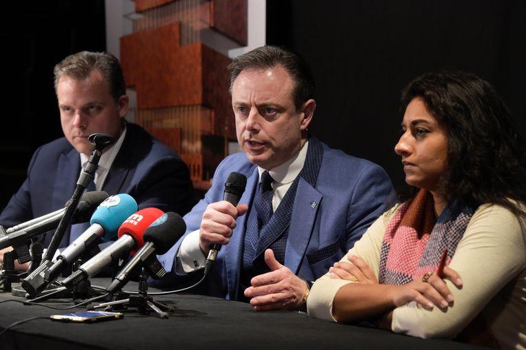 Philippe De Backer, Bart De Wever en Jinnih Beels