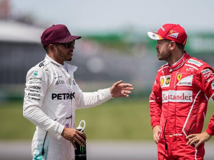 Hamilton: Vettel kan niet met de druk omgaan