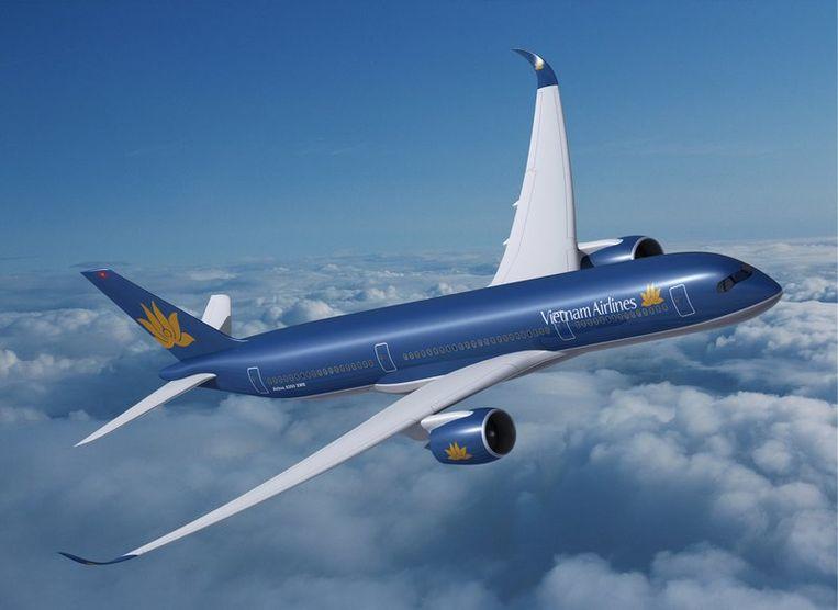 Een model van de Airbus A350. Foto EPA Beeld