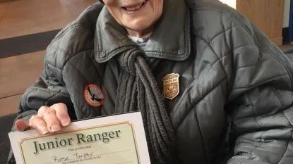 Dochter van Belgische ouders is als junior ranger van Grand Canyon met haar 103 ouder dan het park zelf