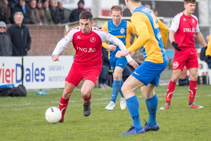 Mart de Kroo was zondag goed voor twee doelpunten bij Goes.