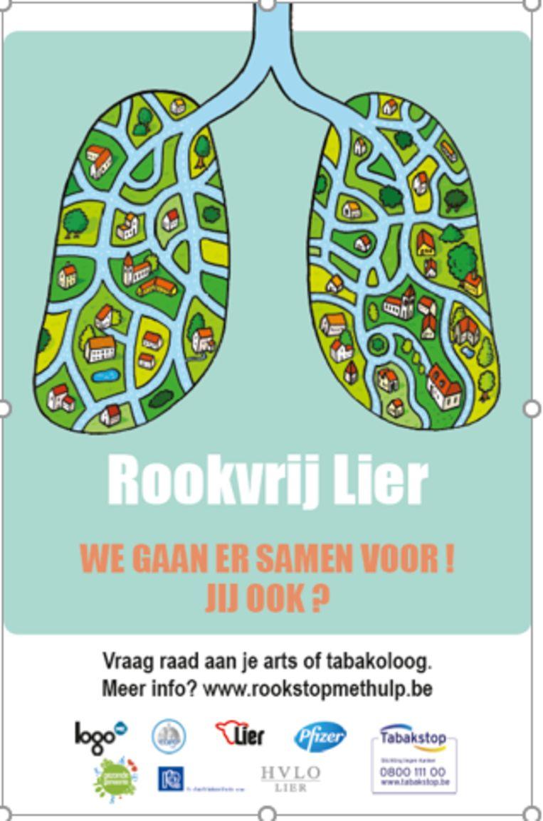 De affiche van Rookvrij Lier.