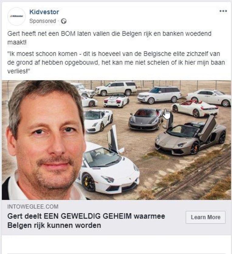 Neen, Marc Coucke en Gert Verhulst geven op sites heus geen tips om veel geld te verdienen. Wees dus op uw hoede voor zulke advertenties.